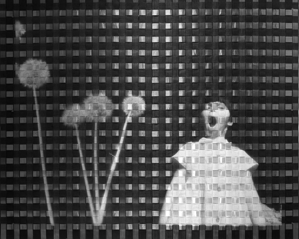 Two woven photographs. Infrared film. 170x210 cm. New York. Collec. Ayuntamiento de Pamplona.